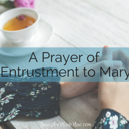 A Prayer Of Entrustment To Mary