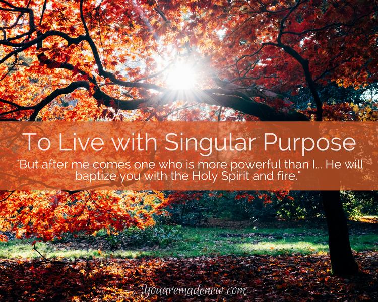 To Live with Singular Purpose